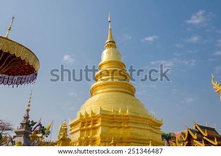 Art Thai style in temple  - stock photo