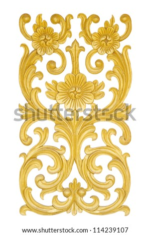 Art Thai style in temple (with clipping path) - stock photo