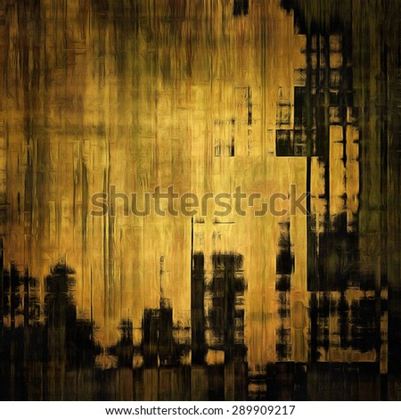 Art vintage background with space for text and different color patterns: yellow (beige); brown; gray; black - stock photo