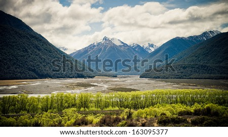 Arthurs Pass National Park, Southern Alps, New Zealand  - stock photo