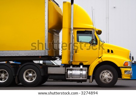 Articulated semi truck - stock photo