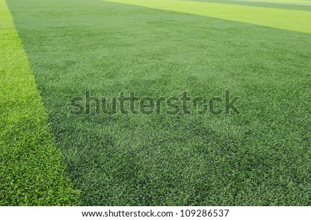 Artificial Football Field Background - stock photo