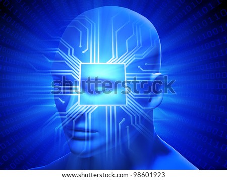 Artificial general intelligence concept illustration - stock photo