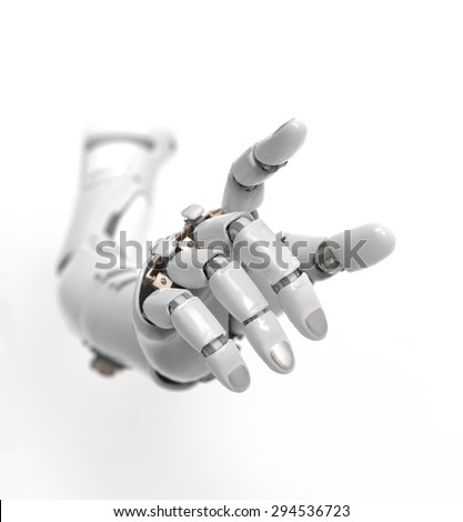 artificial hand - stock photo