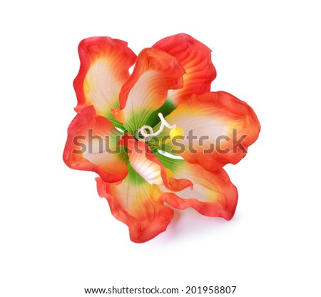 Artificial hibiscus flowers - stock photo