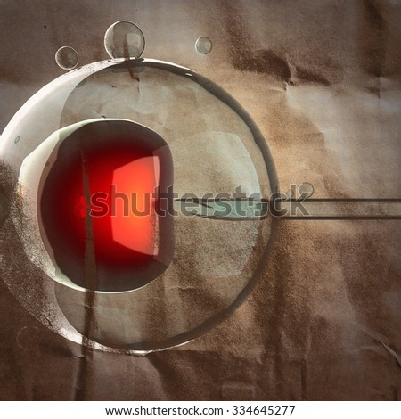 artificial insemination painted on paper - stock photo