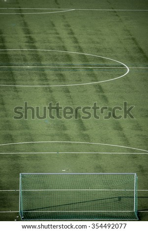 artificial soccer turf in Germany - stock photo