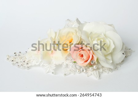 artificials on a white background - stock photo