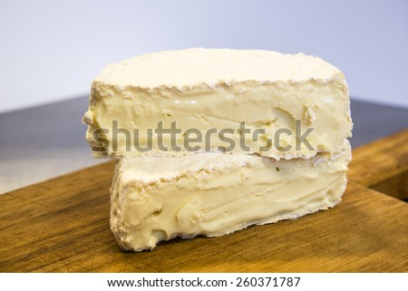 Artisanal spanish soft cheese - stock photo