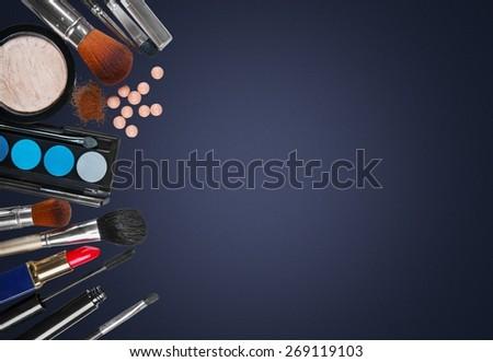 Artist, fashion, brush. - stock photo