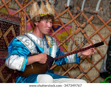 Artist national songs in the Asian style - stock photo