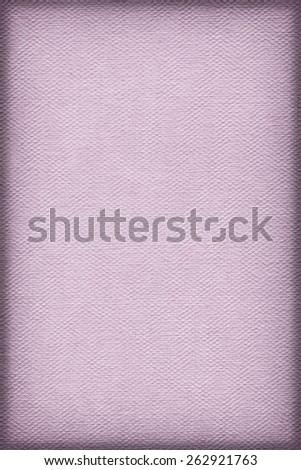 Artist Pale Purple Primed Linen Duck Canvas, coarse grain, vignette grunge texture. - stock photo