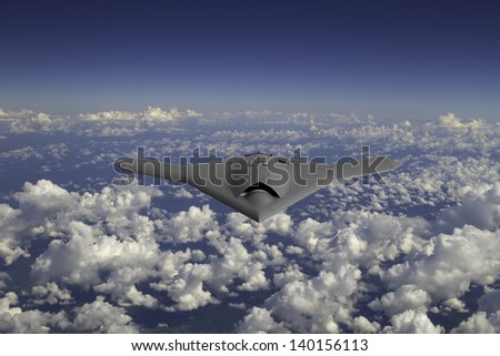 Artist's impression of a drone as it flies at 30,000 feet. - stock photo