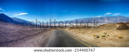 Artist's Palette scenic drive in Death Valley National Park, California. - stock photo