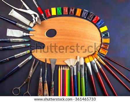Artist tools - stock photo