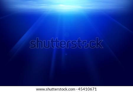 artist under water view - stock photo