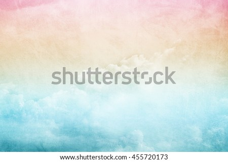 artistic cloud and sky with gradient color and grunge texture                            - stock photo