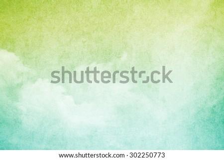 artistic cloud and sky with grunge  paper texture - stock photo