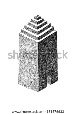 Artistic drawing - stock photo
