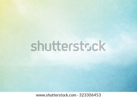 artistic sky and cloud on pastel gradient color with grunge texture - stock photo