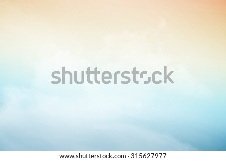 artistic soft cloud and sky with gradient color - stock photo