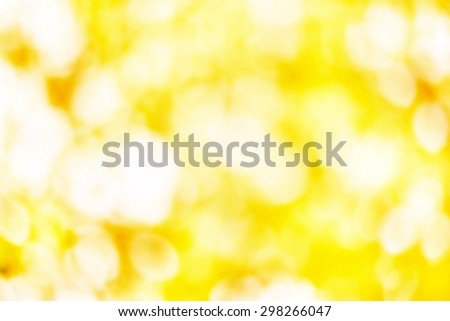 Artistic Soft light abstract background  blurred magic lights for your design. Yellow white color - stock photo