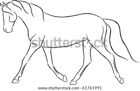 Artistic Trotting Horse