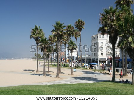 Artistic Venice Beach in California - stock photo
