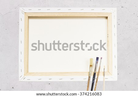 artists canvas - stock photo
