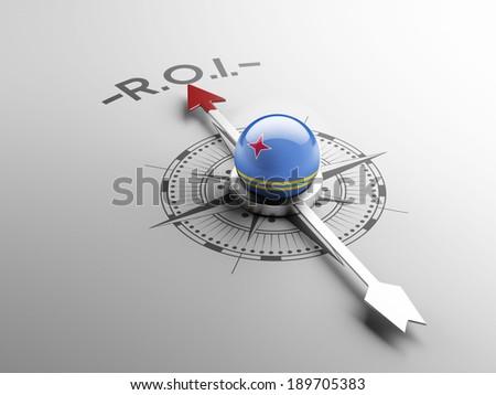 Aruba High Resolution ROI Concept - stock photo