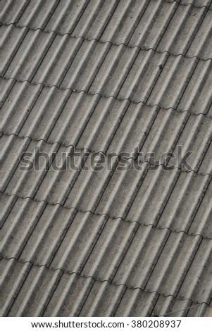 Asbestos roof - stock photo