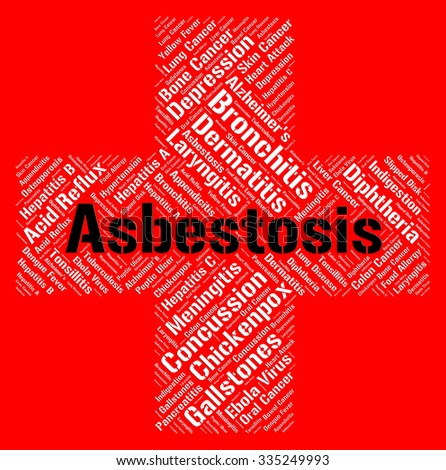 Asbestosis Word Showing Lung Cancer And Contagion - stock photo