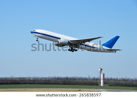 Ascending Passenger Plane - stock photo