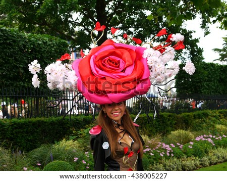 ASCOT  - JUN 16, 2016: Tracy Rose attends Ascot racecourse for Ladies Day Royal Ascot on Jun 16, 2016 in Ascot - stock photo