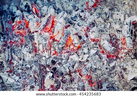 Ash from the fire - stock photo