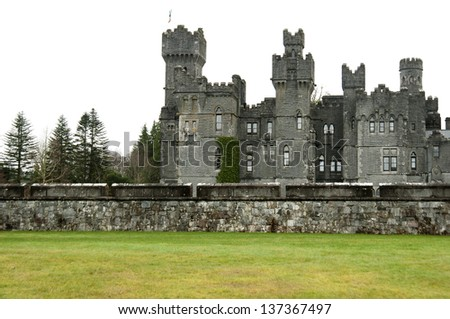 Ashford Castle, Co. Mayo - Ireland - stock photo