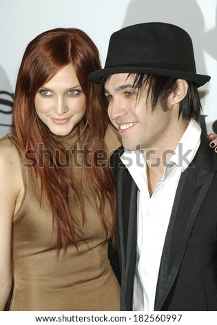 Ashlee Simpson, Pete Wentz at Clive Davis Pre-Grammy Party, Beverly Hilton Hotel, Los Angeles, CA, February 09, 2008 - stock photo