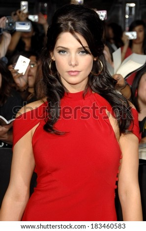 Ashley Greene at THE TWILIGHT SAGA NEW MOON Premiere, Mann Village and Bruin Theaters, Los Angeles, CA November 16, 2009 - stock photo