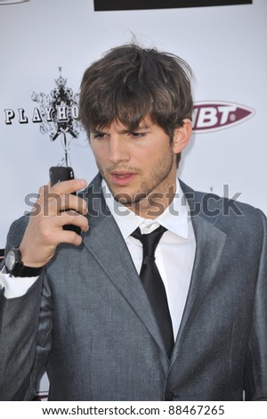 "Ashton Kutcher at the Los Angeles premiere of ""The Joneses"" at the Arclight Theatre, Hollywood. April 8, 2010  Los Angeles, CA Picture: Paul Smith / Featureflash - stock photo"
