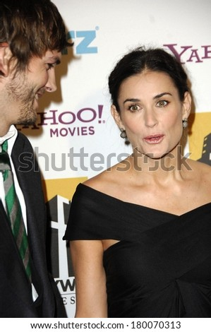 Ashton Kutcher, Demi Moore at Hollywood Film Festival 10th Annual Hollywood Awards, The Beverly Hilton Hotel, Beverly Hills, CA, October 23, 2006 - stock photo