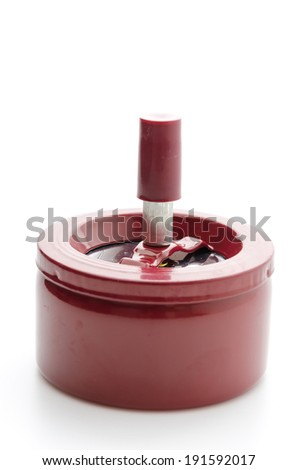 Ashtray isolated on white - stock photo
