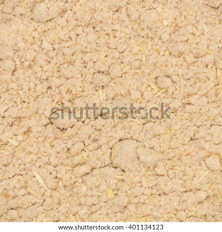 Ashwagandha powder texture macro, top view - stock photo