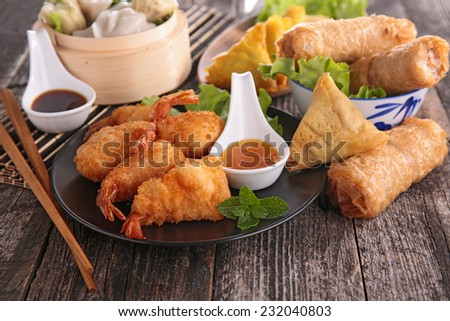 asia food - stock photo