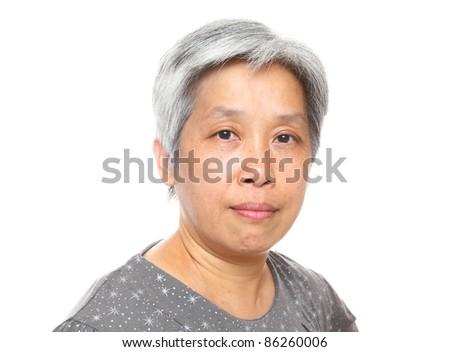 asia mature woman - stock photo