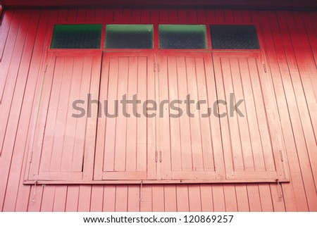 Asia red window - stock photo
