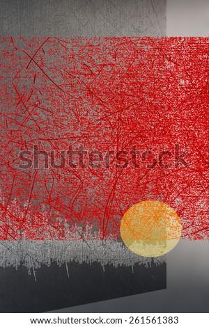 Asian abstract art work - stock photo