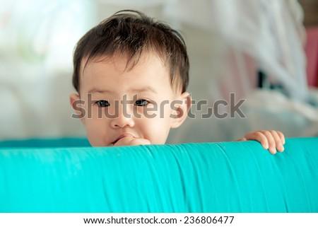 Asian adorable baby girl - stock photo