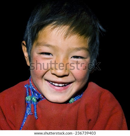 Asian boy with a beautiful smile.  - stock photo