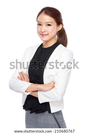 Asian business assistant woman - stock photo