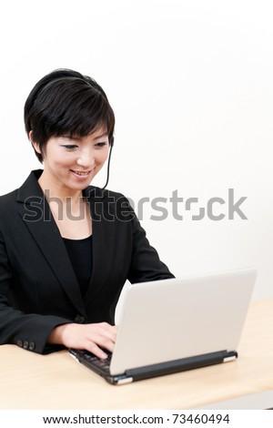 asian businesswoman working - stock photo